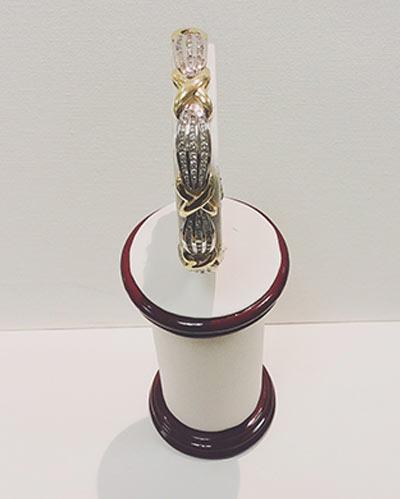 Diamond bezel Bracelets